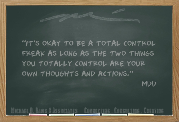 It's okay to be a total control freak