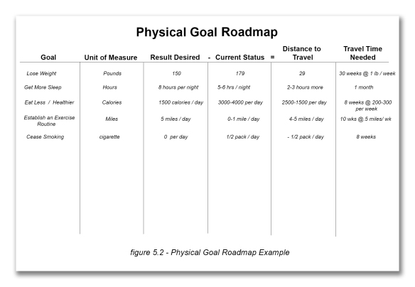 Figure 5_2 Physical Goal Roadmap Example